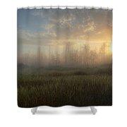 A Summer Sunrise On The Edge Shower Curtain
