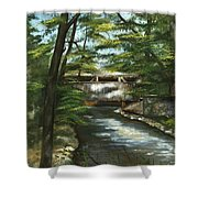 A Summer Walk Along The Creek  Shower Curtain