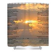 A Sunset A Poem - Victor Hugo Shower Curtain