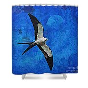 A Swallow And The Moon Shower Curtain