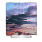A Swift Moving Thunderstorm Moves Shower Curtain
