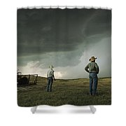 A Thunderstorm Halts Haying As Two Shower Curtain