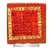A Total Burst Of The Heart Shower Curtain