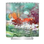 A Town On Planet Goodaboom Shower Curtain