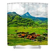 A Town On The Way Shower Curtain