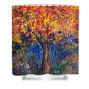 A Tree Grows Here Shower Curtain