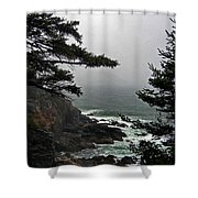 A Tricky Acadian Cove Shower Curtain