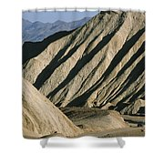 A Truck Is Dwarfed By Eroded Desert Shower Curtain