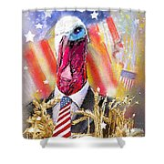 A Turkey For President Shower Curtain