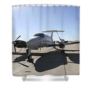 A  Uc-12f King Air Aircraft Shower Curtain