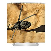 A Uh-60 Black Hawk Helicopter Comes Shower Curtain