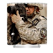 A U.s. Air Force Combat Cameraman Shower Curtain by Stocktrek Images