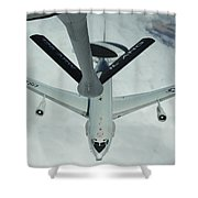 A U.s. Air Force E-3 Sentry Moves Shower Curtain
