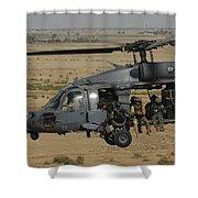 A U.s. Air Force Hh-60 Pavehawk Flies Shower Curtain