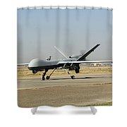 A U.s. Air Force Mq-9 Reaper Unmanned Shower Curtain