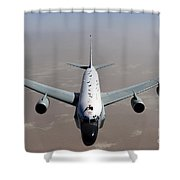A U.s. Air Force Rc-135vw Rivet Joint Shower Curtain