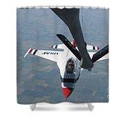 A U.s. Air Force Thunderbird Pilot Shower Curtain