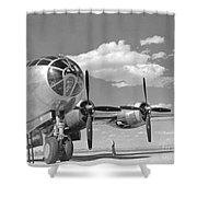 A U.s. Army Air Forces B-29 Shower Curtain