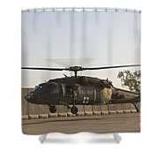 A U.s. Army Medevac Uh-60 Black Hawk Shower Curtain