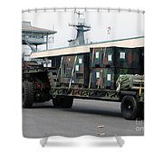 A U.s. Marine Corps Mk48 Logistics Shower Curtain