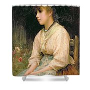 A Venetian Flower Girl Shower Curtain