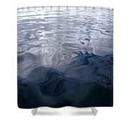 A Very Calm Ocean Reflects Grey-blue Shower Curtain