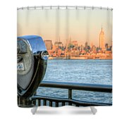A View From New Jersey I Shower Curtain