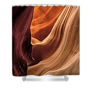 A View In A Slot Canyon Shower Curtain