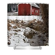 A View In Winter Shower Curtain