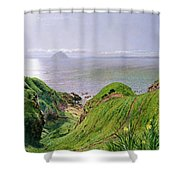 A View Of Ailsa Craig And The Isle Of Arran Shower Curtain