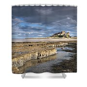 A View Of Bamburgh Castle Bamburgh Shower Curtain