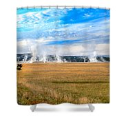 A View Of Geysers  Shower Curtain