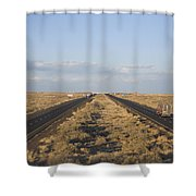 A View Of Interstate 40, Arizona Usa Shower Curtain