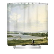 A View Of Knock Ninney And Part Of Lough Erne From Bellisle - County Fermanagh  Shower Curtain
