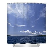 A View Of Lake Superior And Sky At Isle Shower Curtain
