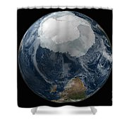 A View Of The Earth With The Full Shower Curtain