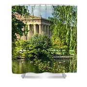 A View Of The Parthenon 13 Shower Curtain