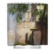 A View Of Venice From A Terrace Shower Curtain