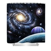 A View To A Nearby Galaxy From A Gas Shower Curtain
