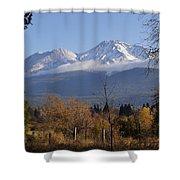 A View Toward Mt Shasta In Autumn Shower Curtain