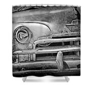 A Vintage Junk Plymouth Auto Shower Curtain