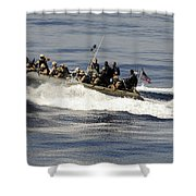 A Visit, Board, Search And Seizure Team Shower Curtain by Stocktrek Images