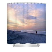 A Walk On The Beach Shower Curtain