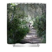 a walk about fairy wood - Mediterranean autumn forest Shower Curtain