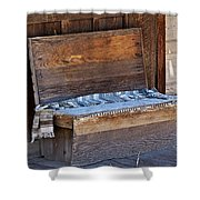 A Weathered Bench Shower Curtain