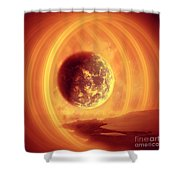 A Whole New World Shower Curtain