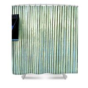 A Window In The Wall Of Wood Shower Curtain