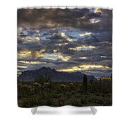 A Winter Sunrise In The Desert  Shower Curtain
