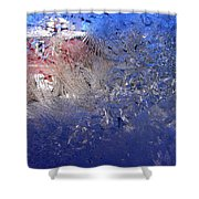 A Wintry Icy Window Shower Curtain