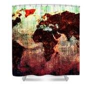 A Wonderful World Shower Curtain